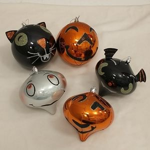 Holloween Ornaments Hanging Balls Cat Ghost Bat ++